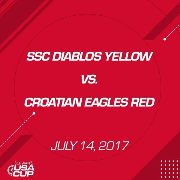 Boys U15 - July 14, 2017 - SSC Diablos Yellows vs Croatian Eagles Red