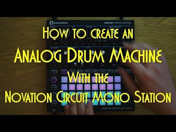 Analog Drum Template for the Novation Circuit Mono Station