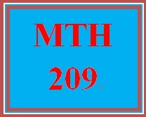 MTH 209 Week 5 MyMathLab Study Plan for Final Exam
