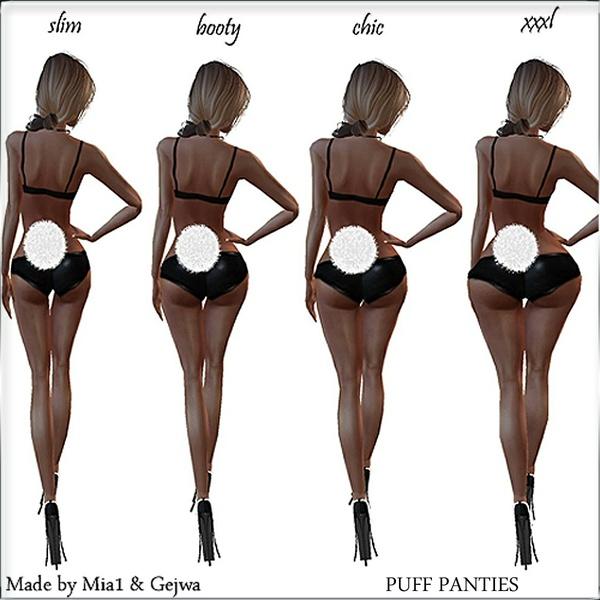 PVC Puff Xmas Panties IMVU MESH & TEXTURE