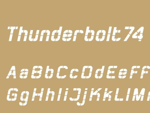 Thunderbolt74 Bold Italic