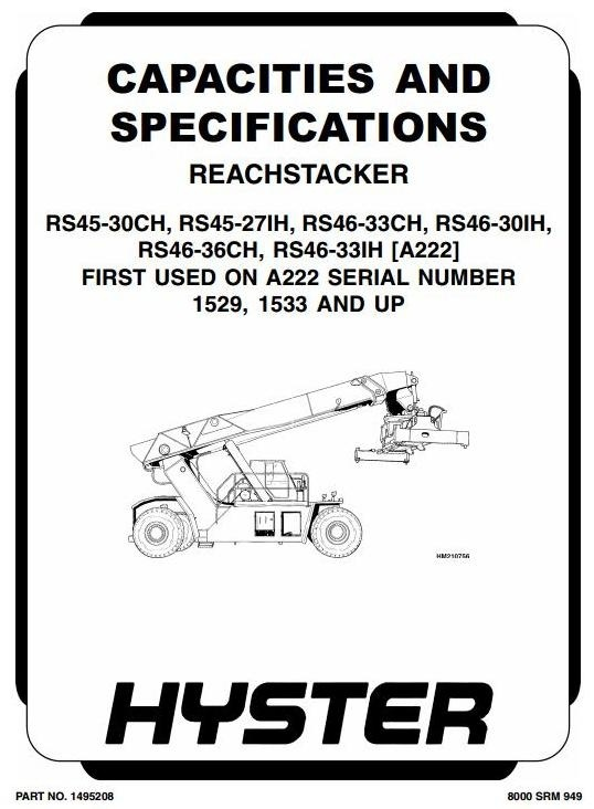 Hyster Truck Type A222: RS45-27IH, -30CH, RS46-30IH, -33CH, -33IH, -36CH Workshop Manual