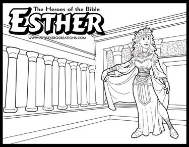 The Heroes of the Bible Coloring Pages: Esther