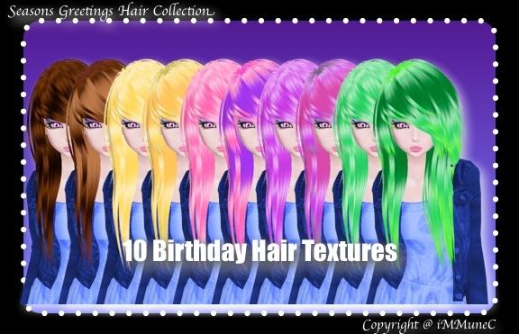 10 Birthday Hair Textures (SG)