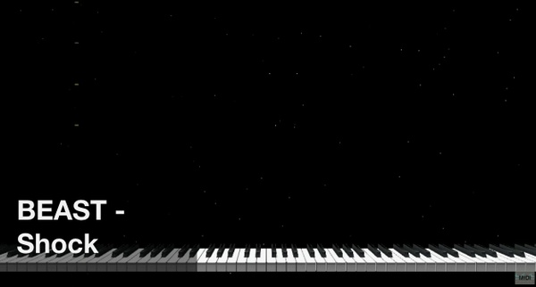 【미디 MIDI】 비스트 BEAST - Shock | MIDI makernect