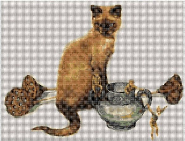 cross stitch pattern Dlw-059c