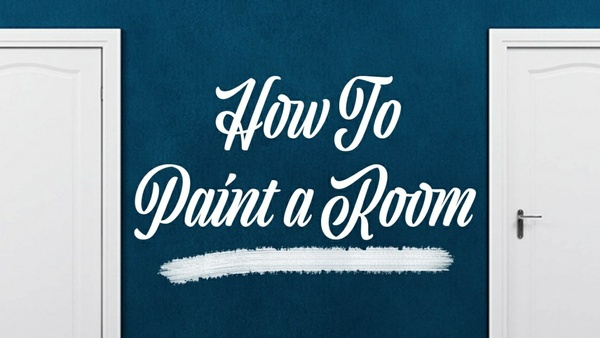 DIY room painting tutorial for beginners - ENGLISH