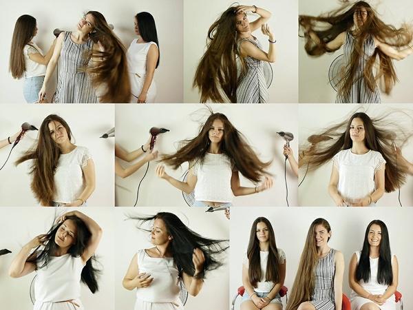 Suzana, Sladjana, and Dragana Hair in Wind