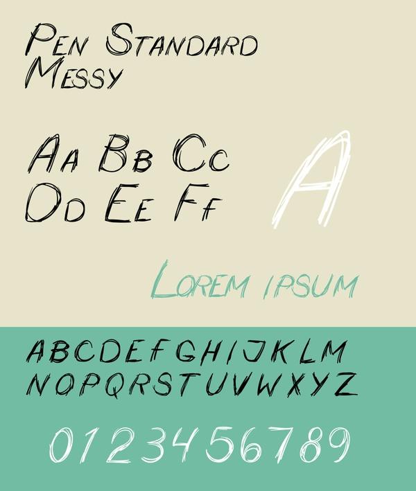 Pen Standard - Messy