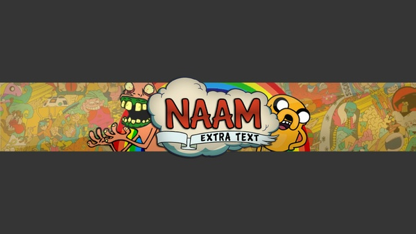 Cartoon banner template By DutchDesigns
