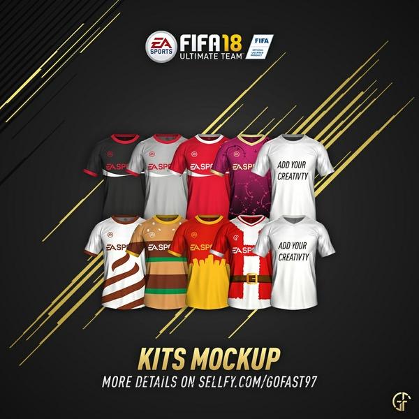 FIFA 18 KITS MOCKUP