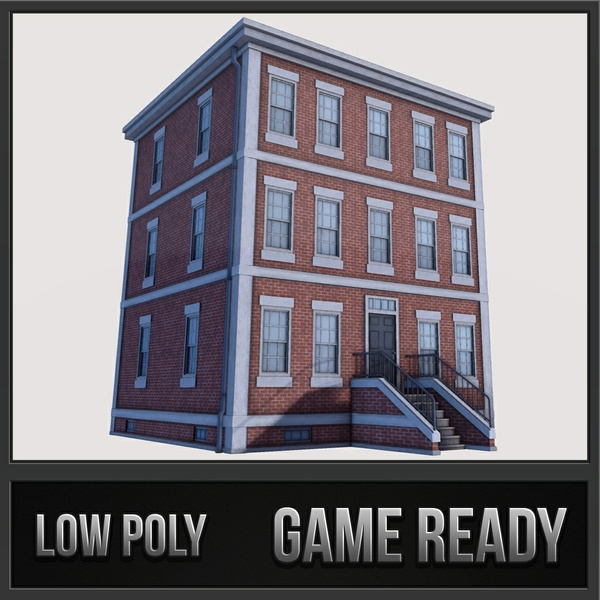 Boston Building 01 | 3D Low Poly Model