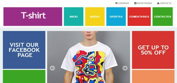 T-Shirt Blogger Template