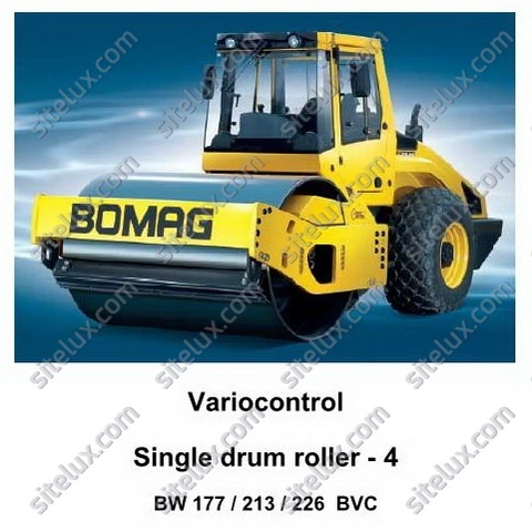 Bomag BW 177, 213, 226 BVC Variocontrol Single Drum Rollers Series 4 Service Training Manual