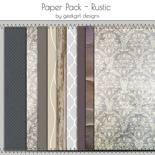Rustic Paper Pack by geekgirl designs