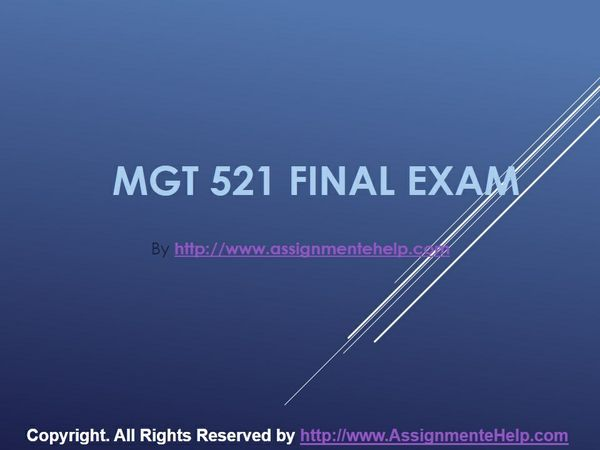 mgt 521 final exam answers