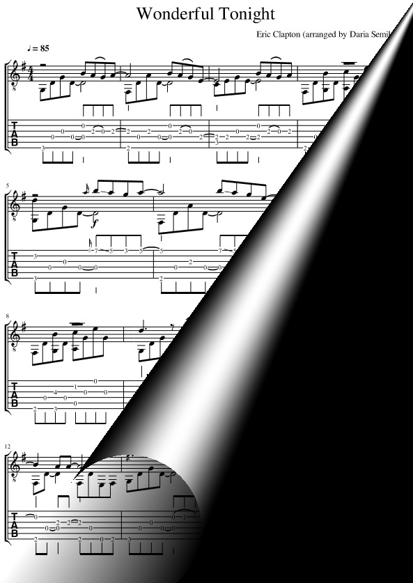 Wonderful Tonight (Sheet Music + TAB)