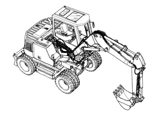 LIEBHERR R310B HYDRAULIC EXCAVATOR OPERATION & MAINTENANCE MANUAL