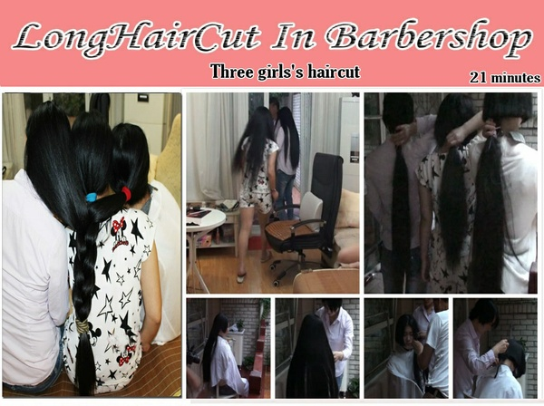 Three girls's haircut