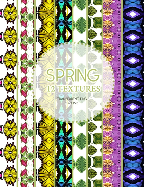 Spring Texture P2.10.04.17 / 12 Transparent textures PNG and PSD file