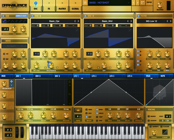 Dark Silence Sound Design - GOLDMEMBER V1 XFER SERUM SKIN