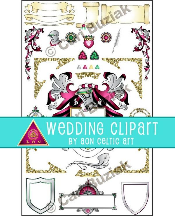"Aon Wedding Stationery - ""Medieval Heraldry"""