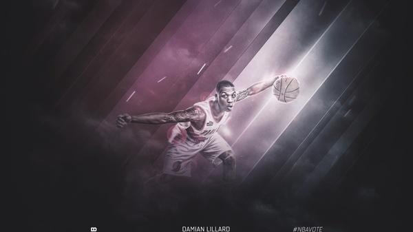Damian Lillard (Sports Design PSD)