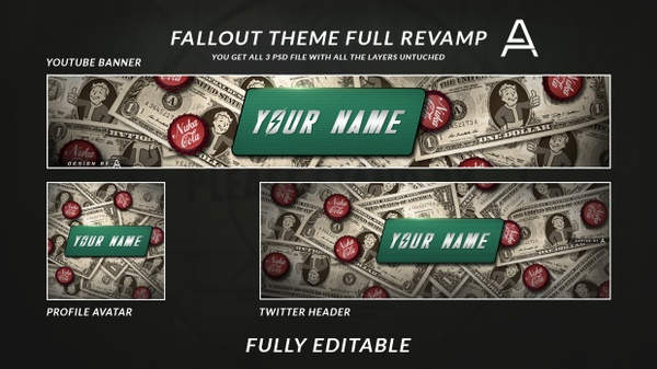 Fallout Themed Social Media Revamp | Fully Editable