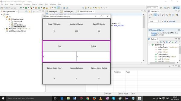 NFL turnover differential analyzer