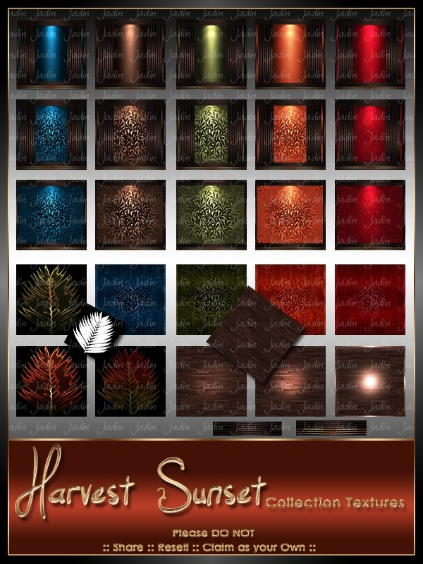 Harvest Sunset Texture Pack-- $10.00