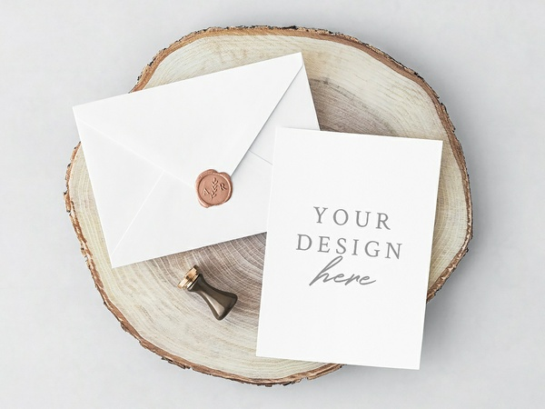 Free PSD Invitation Card & Envelope