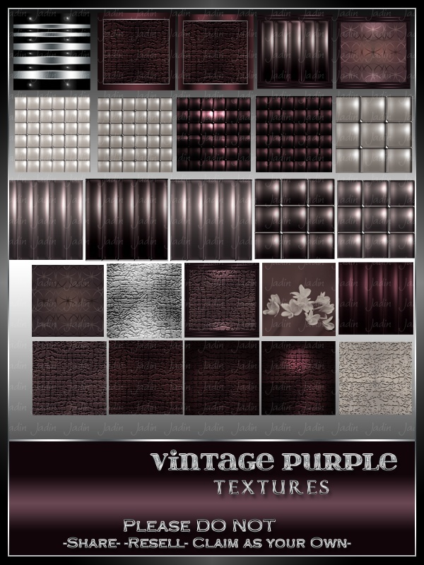 Vintage Purple Texture Pack -- $5.00