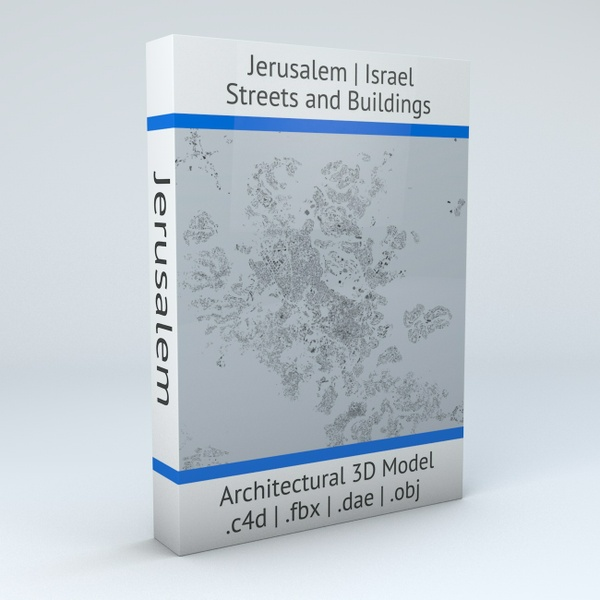 Jerusalem Streets and Buildings Architectural 3D Model