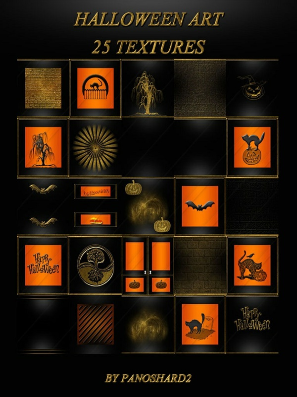 HALLOWEEN ART 25 TEXTURES ROOM  NEW PACK