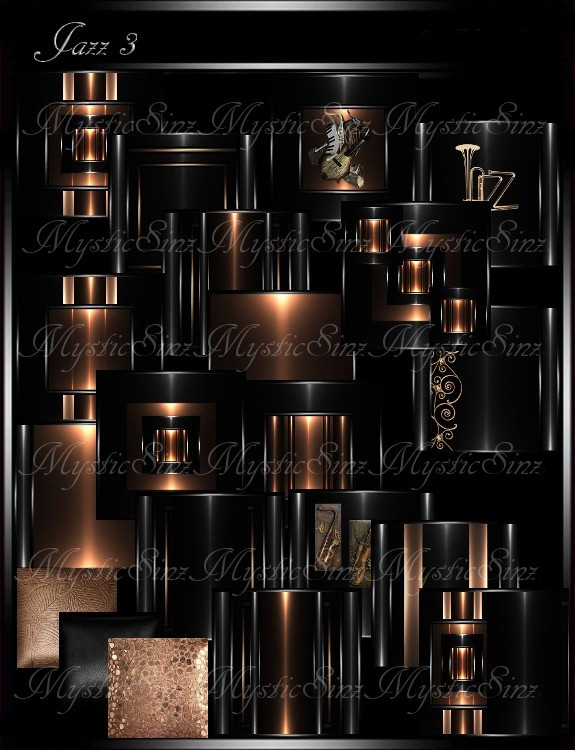 IMVU Textures Jazz 3 Room Collection