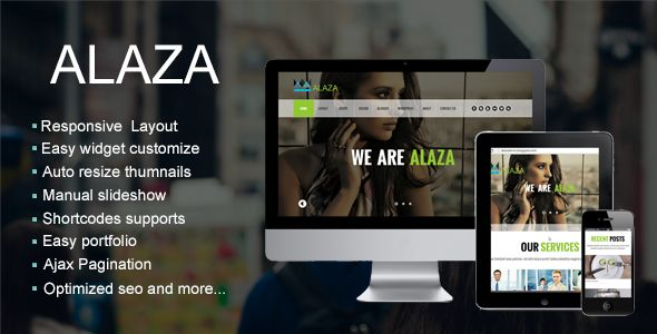 Alaza - One Page Blogger Templates