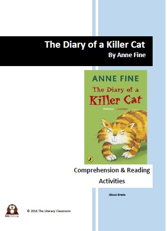 The Diary of a Killer Cat by Anne Fine - Comprehension and Reading Activities