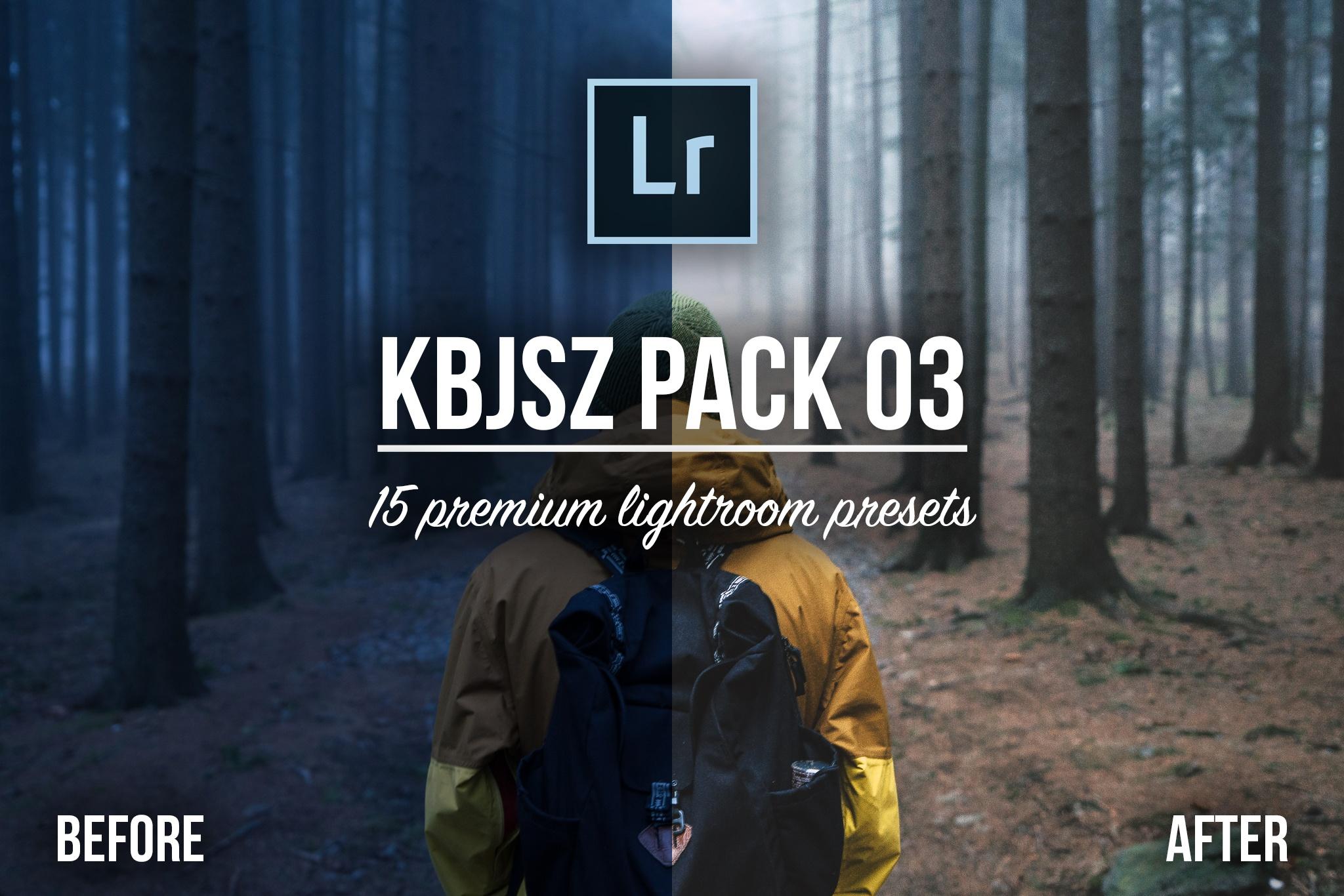 KBJSZ pack 03 - 15 premium lightroom presets