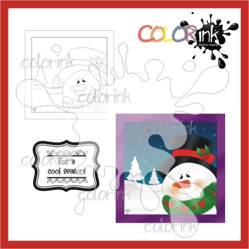 Snowman Frame and sentiment Digi stamp1.20 € (almost 1.00 GBP, almost 1.58 USD)
