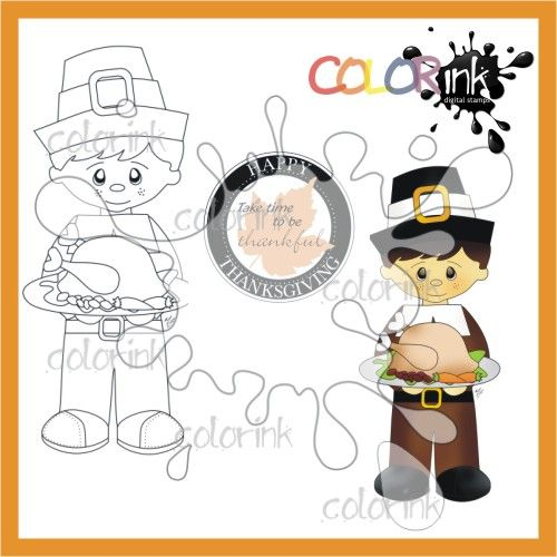 Pilgrim Peter and sentiment Digi stamp