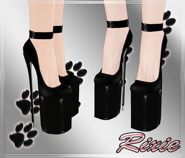 Black Pvc Shoes - W/Resell Rights