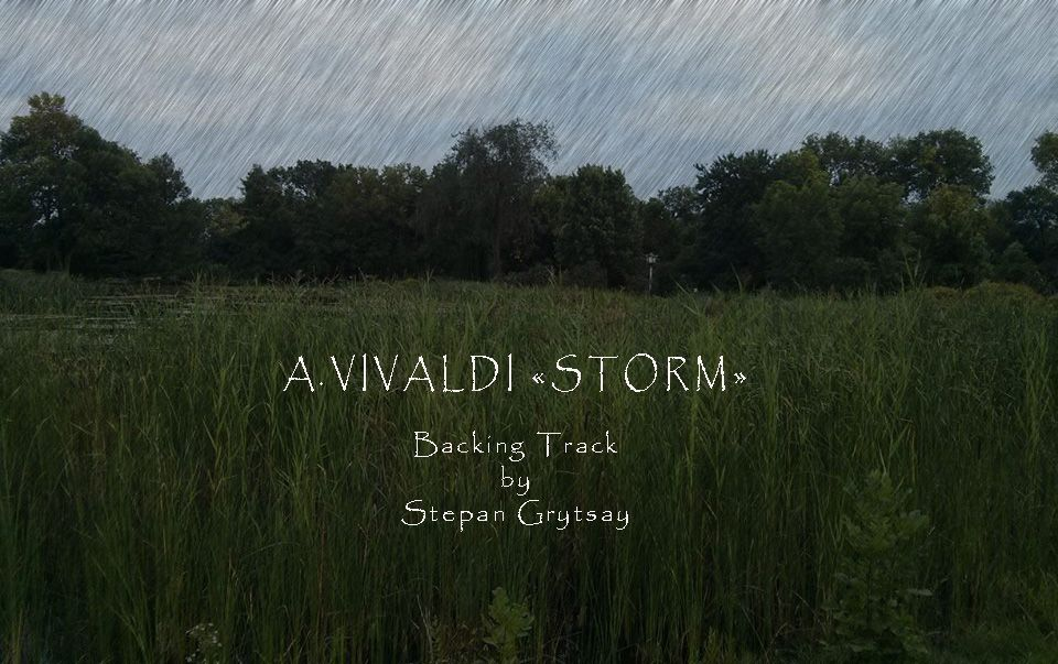 Vivaldi - Storm - Backing Track by Stepan Grytsay