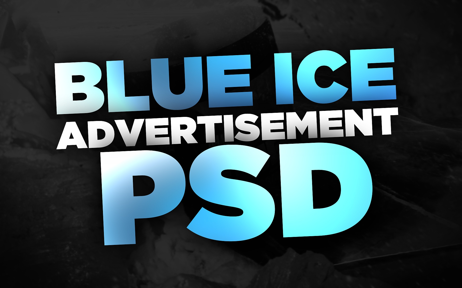 Gfuel Blue Ice Advertisement PSD