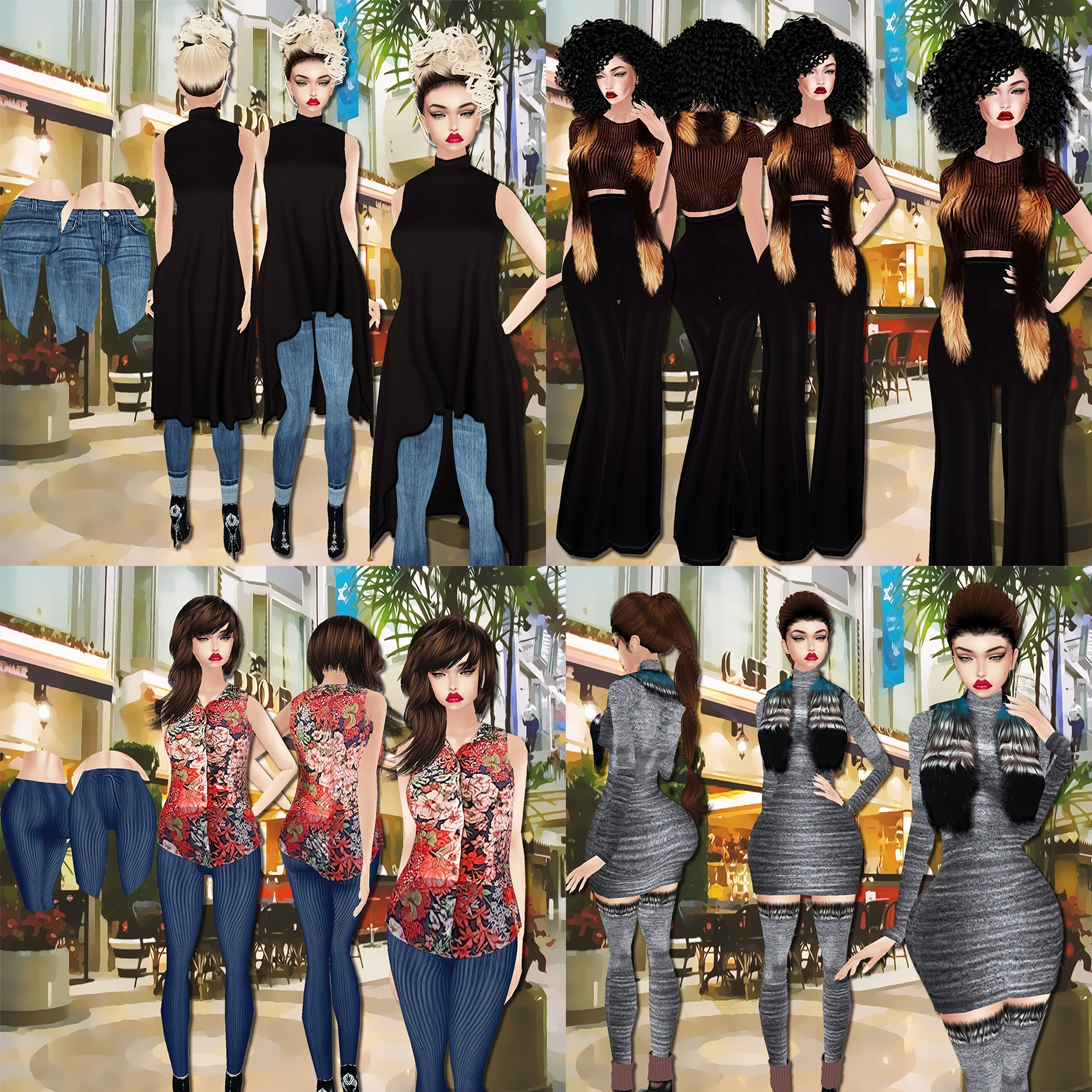 NOW $20 FULL COMBO - At the Mall - x4 Outfits