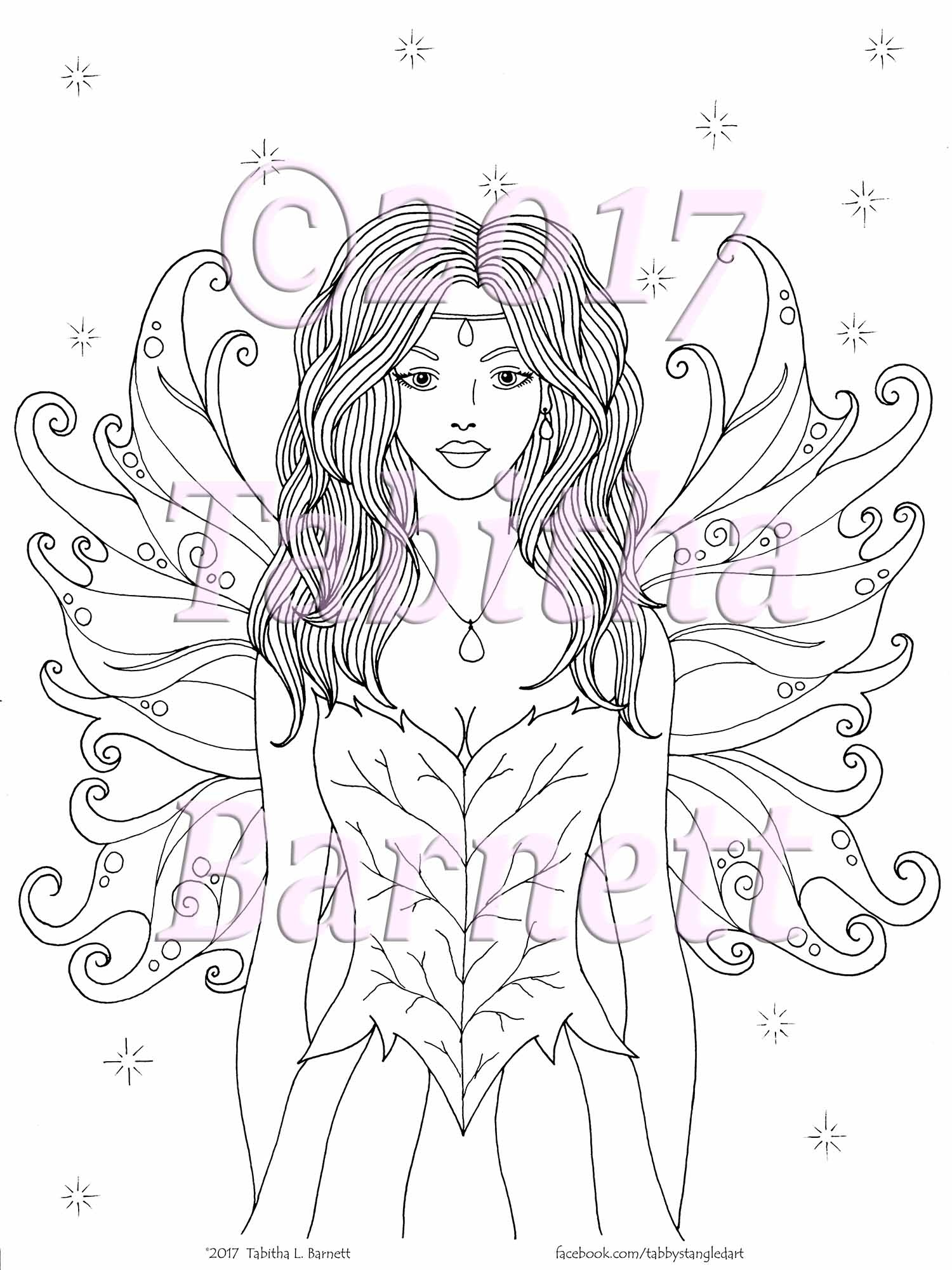 LAYLA Fairy Adult Coloring Page JPG