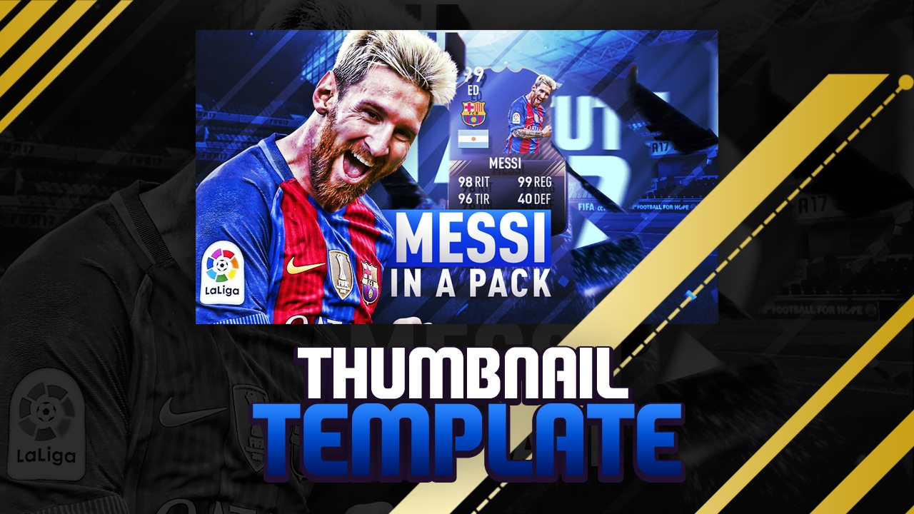 FIFA 17 PACK OPENING THUMBNAIL TEMPLATE