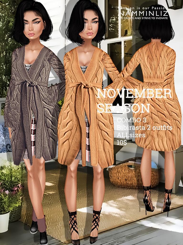 November Season Full combo imvu texture 6 Outfits Bibirasta