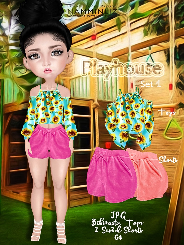 Playhouse Full Set 1 ( JPG Textures Top Bibirasta Shorts Sis3d )