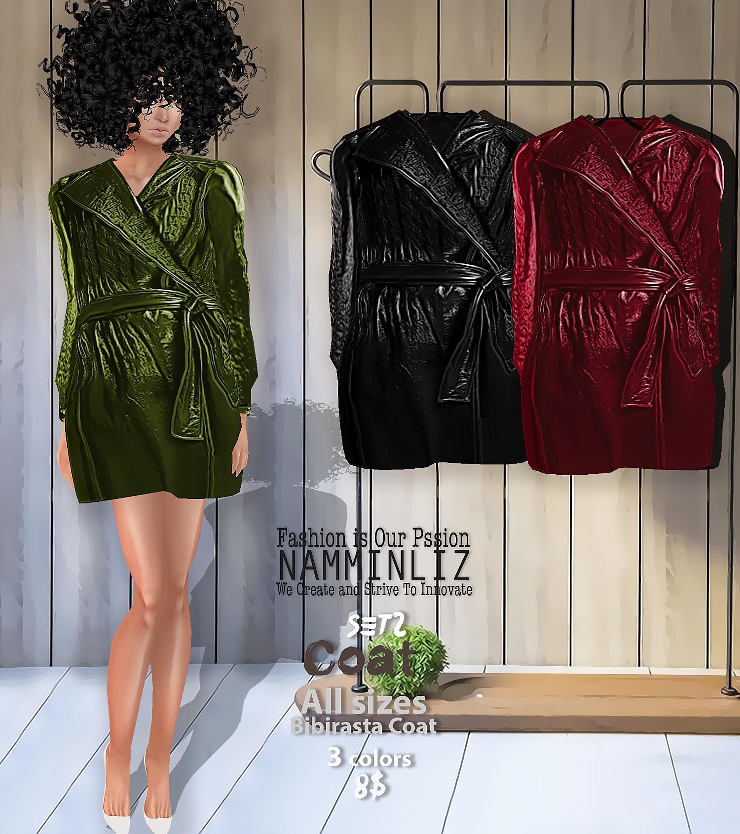 Coat SET2  Bibirasta Coat  All sizes w/ 3 Different colors
