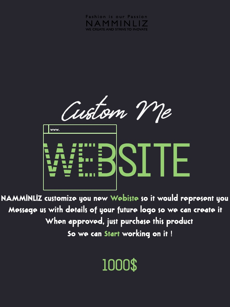 REQUEST Custom Me WEBSITE IMPORTANT READ BEFORE PURCHASE